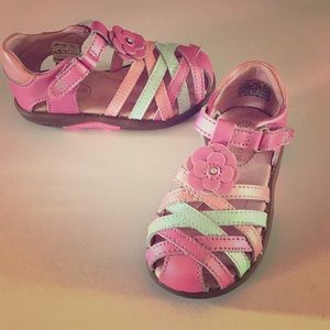 Stride Rite Pastel Leather Sandal